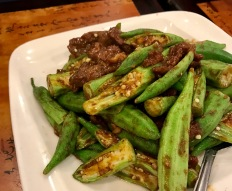 Beef and okra