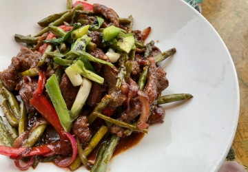 Caribbean Flank Steak Stir Fry